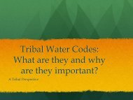 Tribal Water Codes - Native American Rights Fund