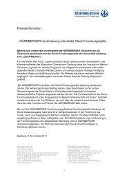 Presseinformation NÜRNBERGER Versicherung unterstützt Gluck ...