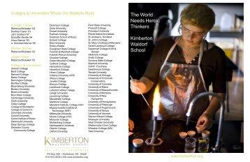 Download PDF - Kimberton Waldorf School