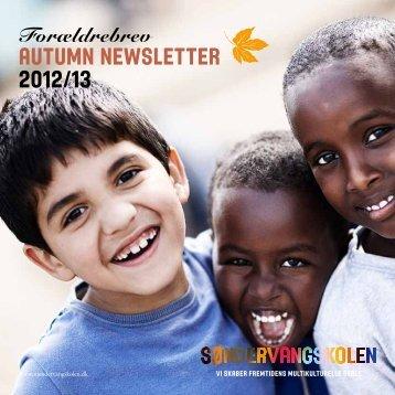 AUTUMN NEWSLETTER 2012/13