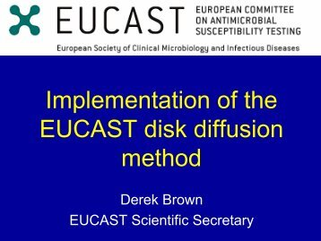 Implementation of the EUCAST disk-diffusion method