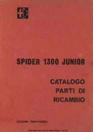 Spider 1300 Junior Catalogo Parti Di Ricambio - Duettoinfo