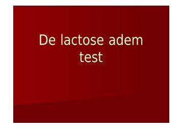 Lactose breath test - AZ Vesalius Tongeren