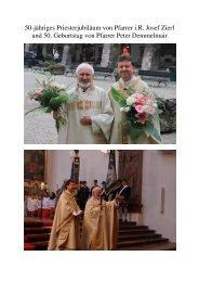 50-jähriges Priesterjubiläum von Pfarrer i.R. Josef Zierl und 50 ...