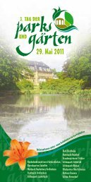Tag der Parks und Gärten - Schloß Schönfeld