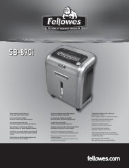 SB-89Ci Manual - Fellowes