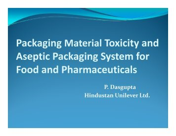 Converting for Aseptic Packaging of Food and ... - PackPlus South
