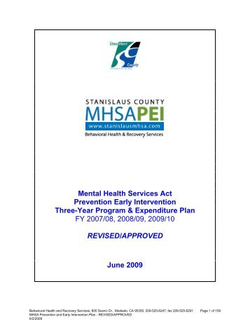 Stanislaus County - Mental Health Services Oversight and ...