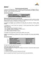 Criteri di aggiudicazione - Milano Ristorazione