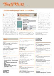 Titelschutzanzeigen KW 16-17/2012