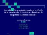 Costa Rica - Asociación Peruana de Energía Solar y del Ambiente