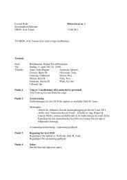 Eyvind Wahl Møtereferat nr. 1 Styremedlem/Sekretær NROF, Avd ...