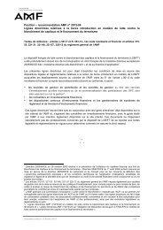 Position – recommandation AMF n° 2013-04 : Lignes ... - AFG