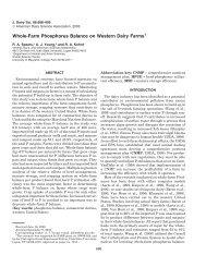 Whole-Farm Phosphorus Balance on Western Dairy Farms