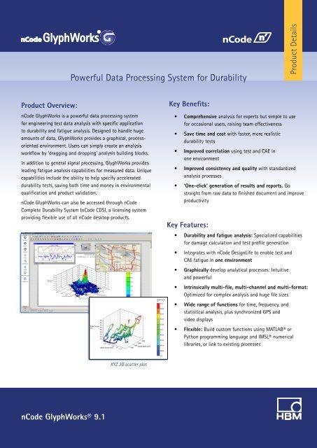 Product brochure (PDF) - HBM nCode