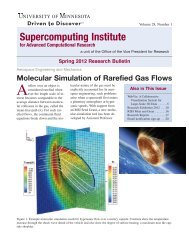 Spring 2012 Research Bulletin - Supercomputing Institute ...