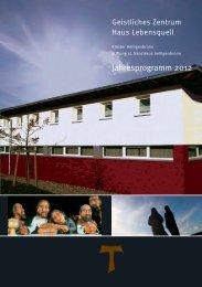 Jahresprogramm 2012 - Stiftung St. Franziskus Heiligenbronn