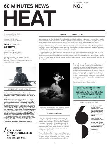 60 minutes of Heat avis / 30. september-1 - Copenhagen Phil