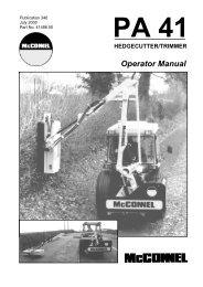 McConnel Power Arm 41 Operators Manual