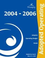 2004 Adopted Operating Budget - City of Winnipeg
