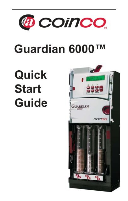 Quick Start Guide - Coin Acceptors Inc.