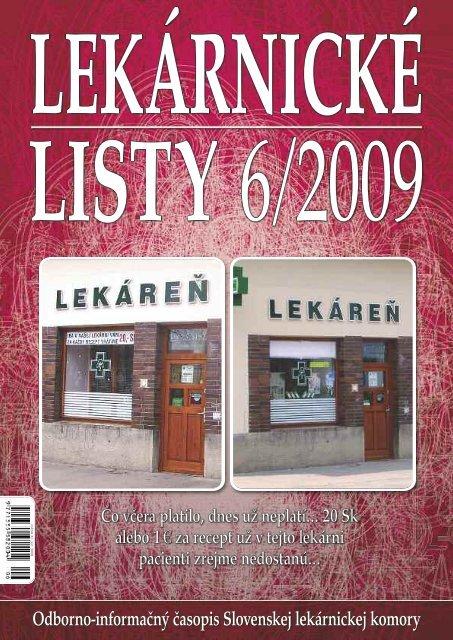 Čo včera platilo, dnes už neplatí… 20 Sk alebo 1€ za recept už v ...
