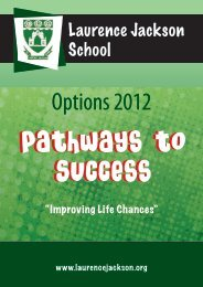 Y9 Option Booklet 2012 - Laurence Jackson School