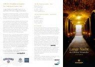 Informationen und Programm zur Langen Nacht der Weinkeller