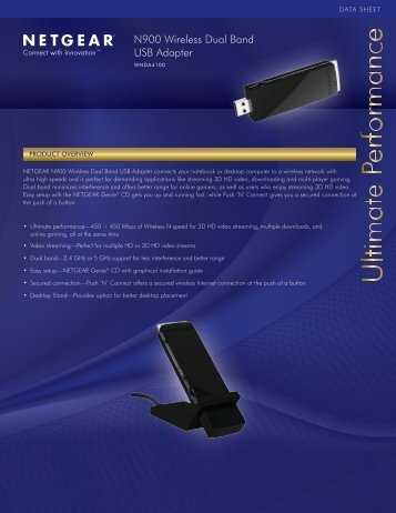 N900 Wireless Dual Band USB Adapter -  Netgear