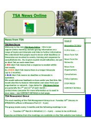 TSA News Online Issue Three - West Cheshire Together