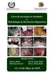 Curso Necropsia 2010.pdf - Facultad de Ciencias Veterinarias