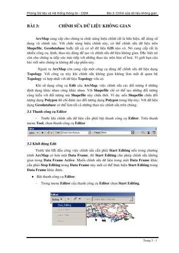 CHÖÔNG 6: KÍ HIEÄU CAÙC ÑOÁI TÖÔÏNG TREÂN BAÛN ÑOÀ