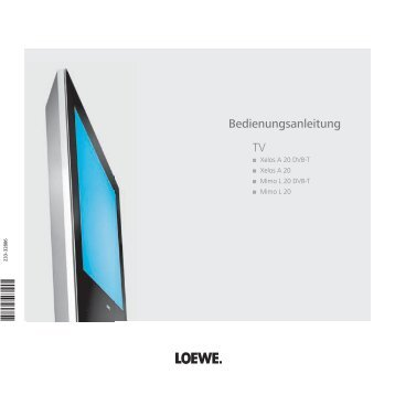 TV Bedienungsanleitung - Loewe