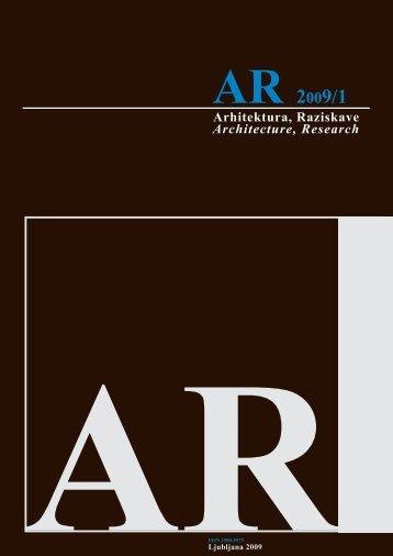 Arhitektura, Raziskave Architecture, Research - Fakulteta za ...