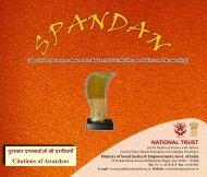 iqjLdkj izkIrdrkZvksa dh iz'kfLr;k¡ Citations of Awardees - National Trust