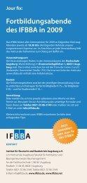 Fortbildungsabende des IFBBA in 2009 - A3 Wirtschaftskalender