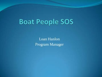 Boat People SOS - Virginia Department of Social Services