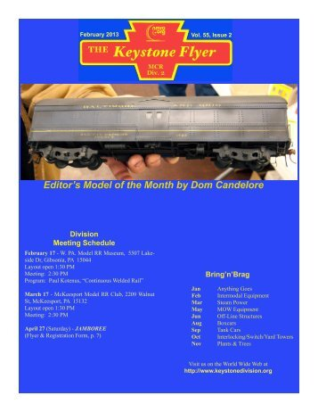 February 2013, Volume 55, Issue 2 - Keystone Division