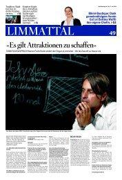 «Es gilt Attraktionen zu schaffen» - Gemeinde Urdorf