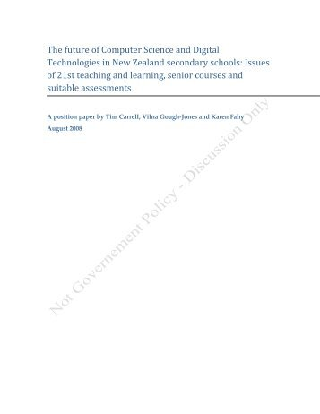 The Future of Computer Science and Digital Technologies: Issues of ...
