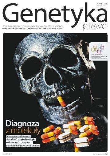 Wiosna 2011 - Zakład Genetyki Molekularnej i Sądowej ...