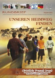 2013 August Unseren Heimweg finden - Christliche Freunde Israels