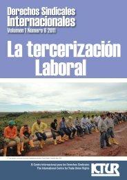 La tercerización laboral - International Centre for Trade Union Rights