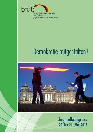 Programmheft 2013 - Jugendkongress