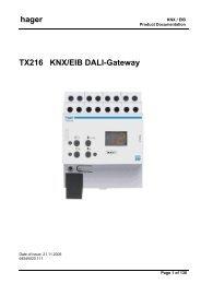 hager TX216 KNX/EIB DALI-Gateway - UTU