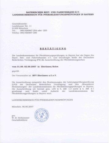 Ausschreibung - Reit- und Fahrverein Illertissen und Umgebung eV