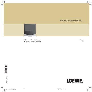 Bedienungsanleitung. TV. - Loewe