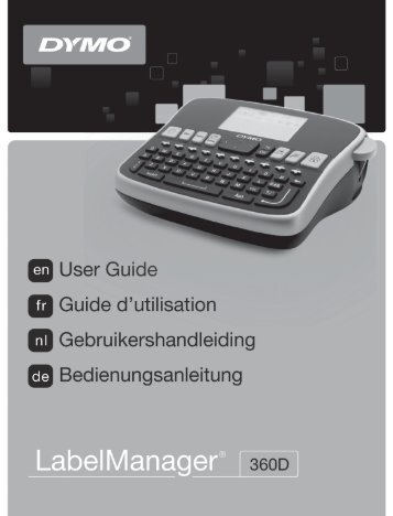 LabelManager 360D User Guide - DYMO