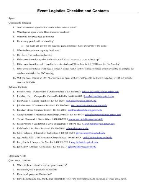 Event Logistics Plan Gevme Blog