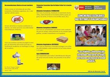 loncheras escolares nutritivas y balanceadas - Ministerio del Interior